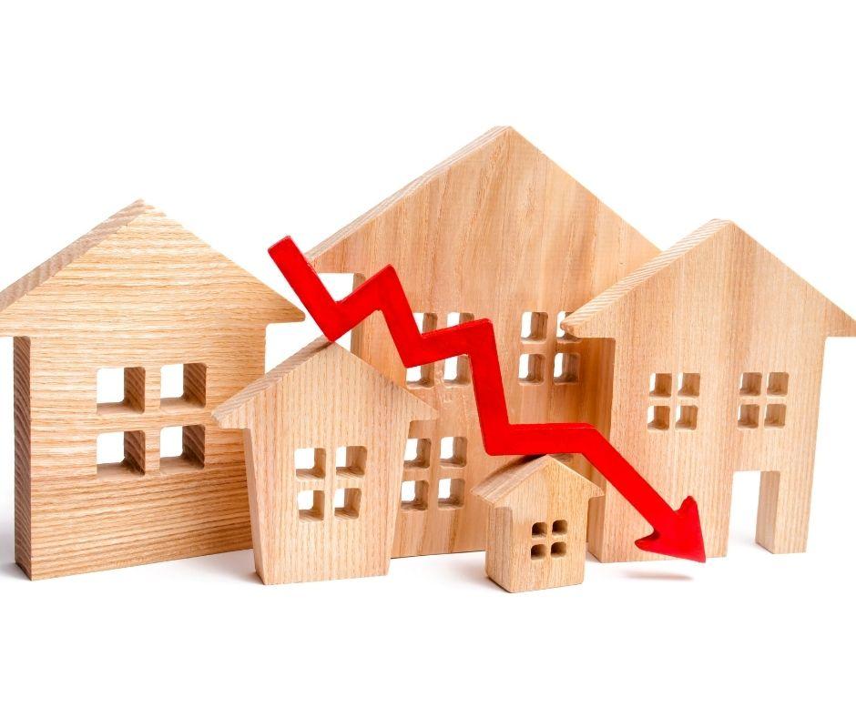 Daling huizenprijzen